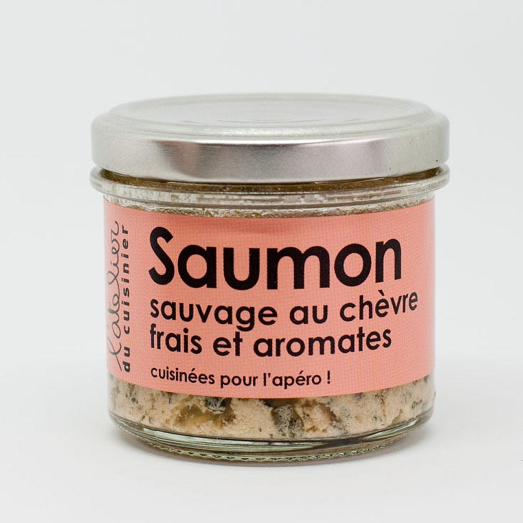 Saumon sauvage chèvre frais & aromates 80g