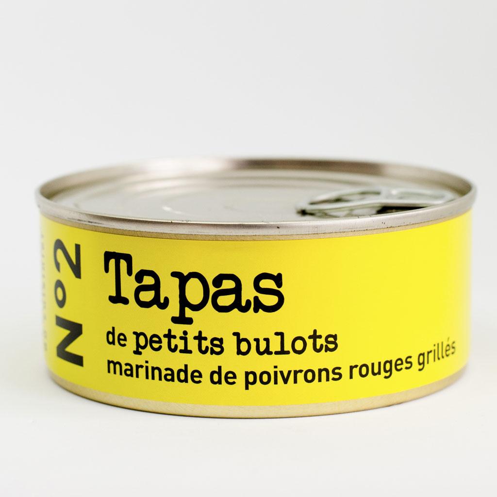 N°2 Tapas de petits bulots  , marinade de poivrons rouges grillés  215g