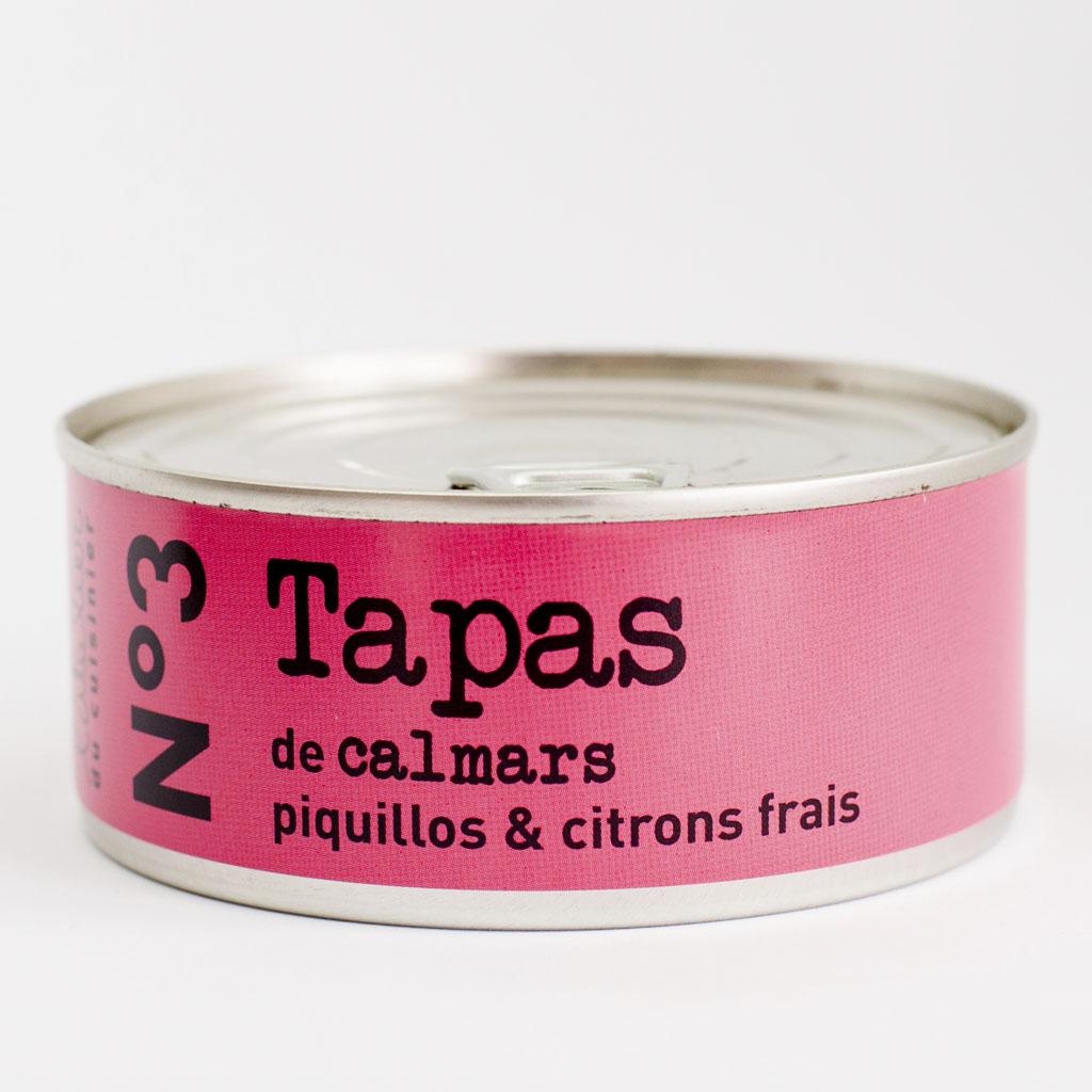 N°3 Tapas de calmars, piquillos & citrons frais 215g