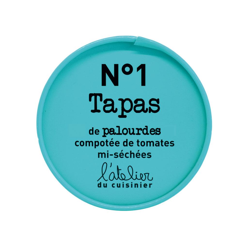 N°1 Tapas de palourdes, compotée de tomate séchées 100G