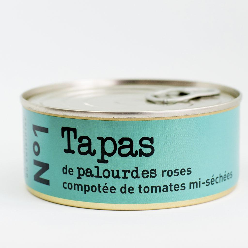 N°1 Tapas de palourdes, compotée de tomate séchées 215G