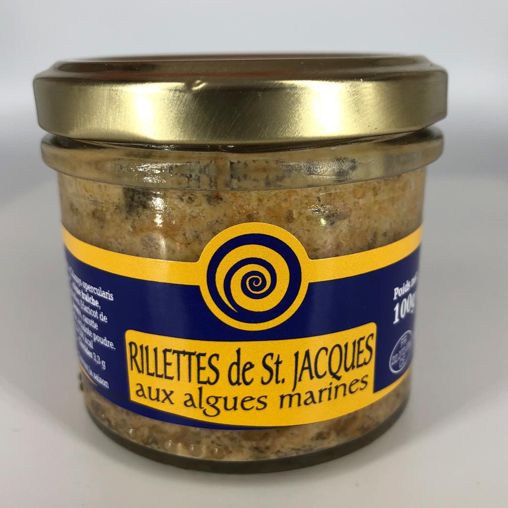 Rillettes de coquilles saint jacques aux algues