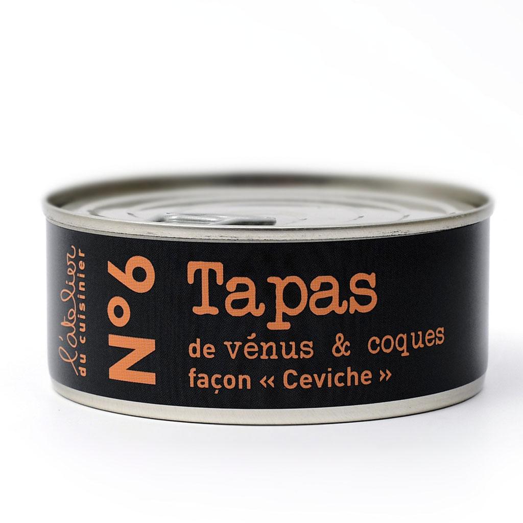 N°6 Tapas de vénus & coques façon «ceviche» 215G