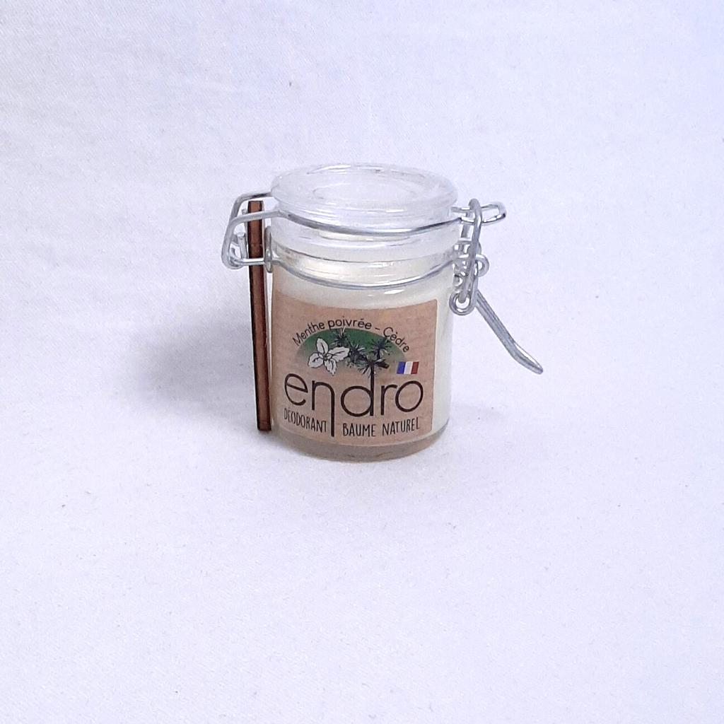 Déodorant baume – Menthe poivrée Cèdre