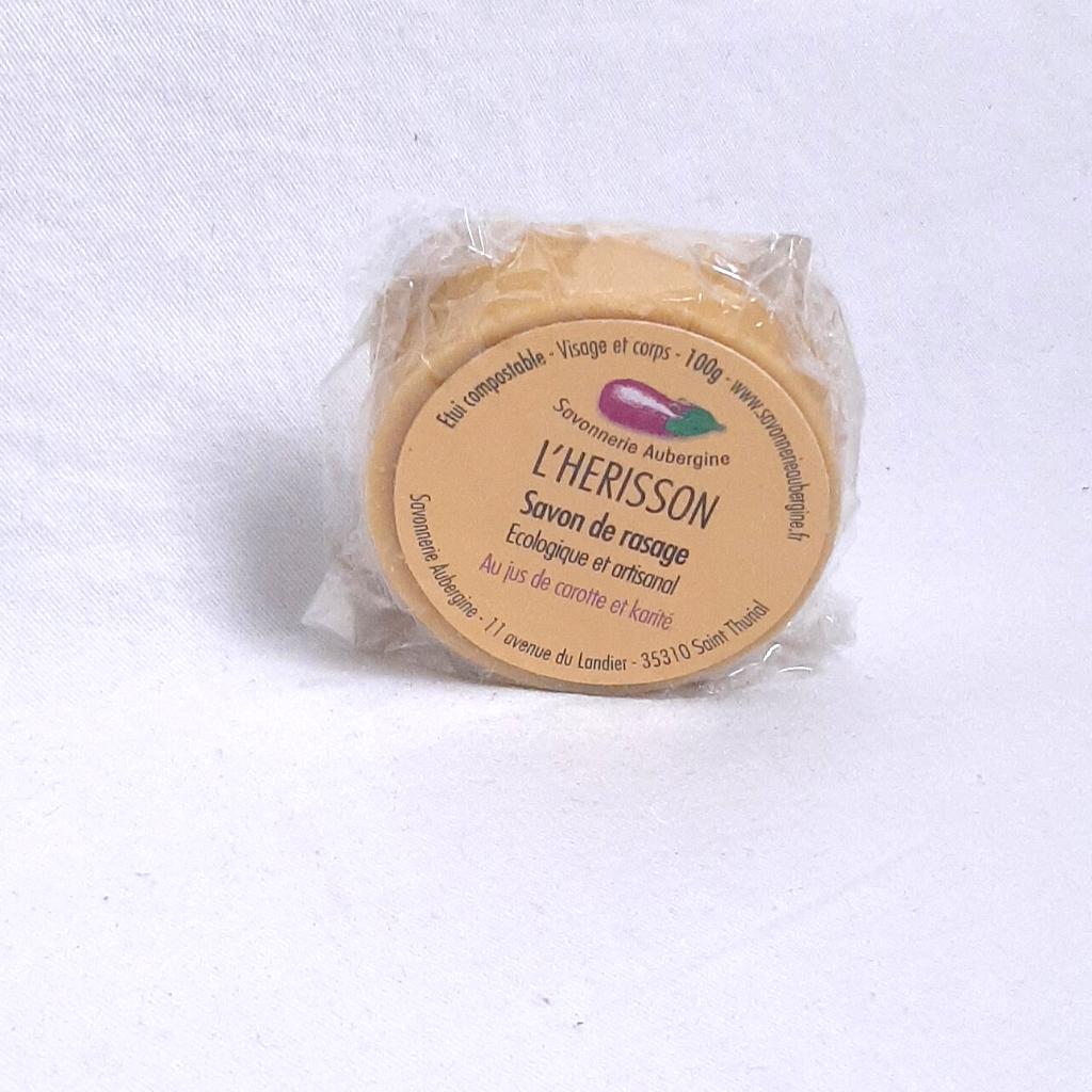 Savon de rasage L'HERISSON, jus de carotte et karité
