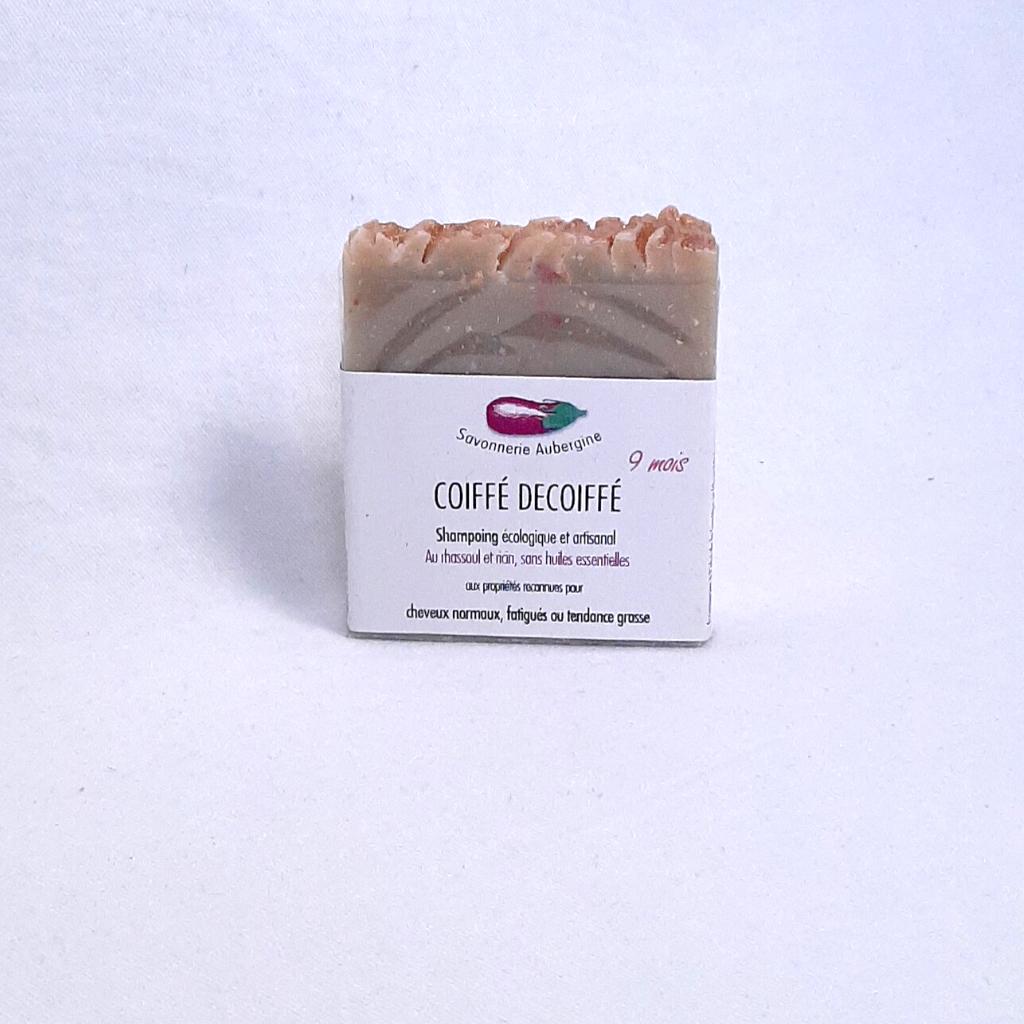 Shampoing solide coiffé décoiffé rhassoul et ricin