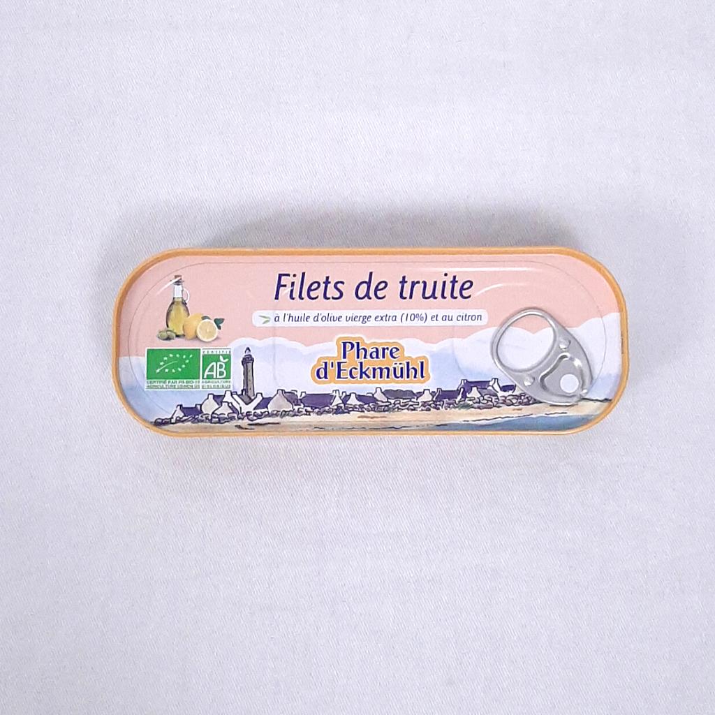 Filets de Truite, huile d'olive et citron Phare d'Eckmül
