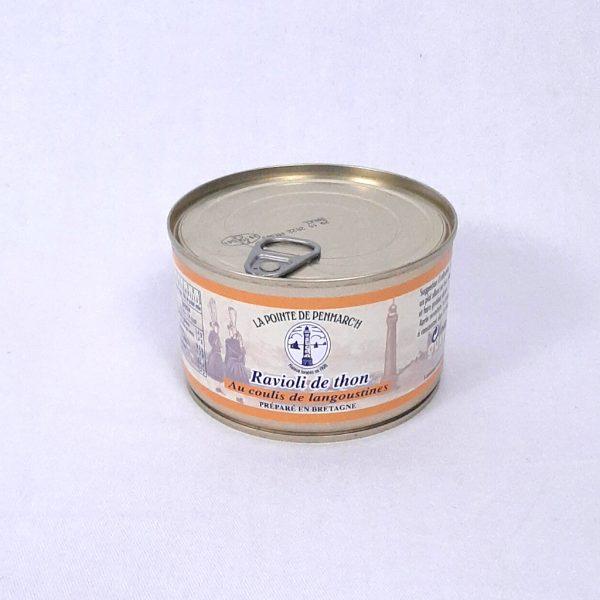 Ravioli de thon coulis de langoustines