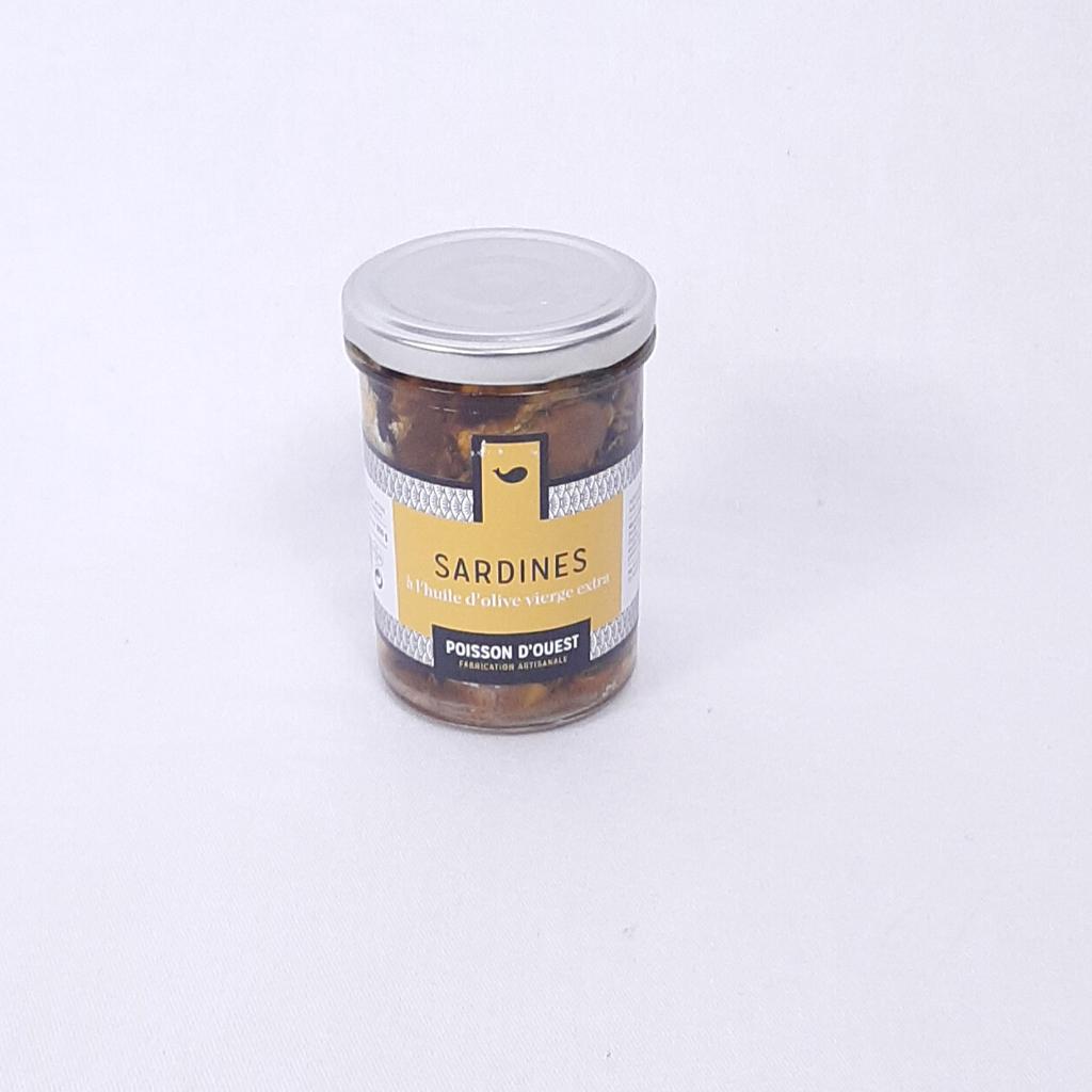Sardines à l'huile d'olive vierge extra Poisson d'Ouest