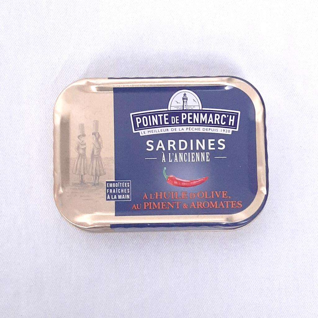 Sardines à l'huile d'olive, piment et aromates PP