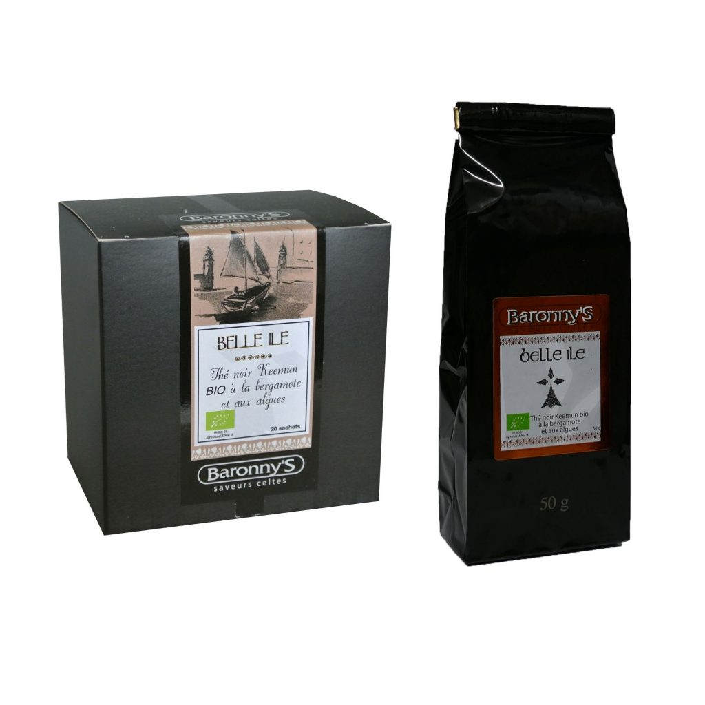 BELLE ILE, Thé Noir Keemun Bio, bergamote et algues